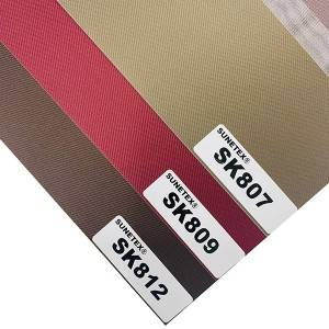 Multi-colored Double Layer Blinds Fabric 100% Polyester
