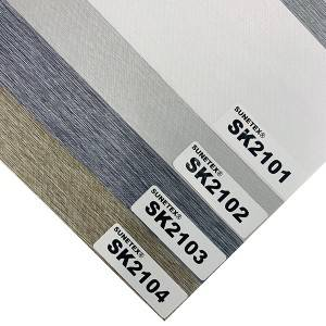 China Decor Privacy Zebra Blind Fabric For Office Window Screen