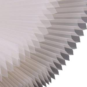 Durable Cordless Pleated Window Blinds Fabric