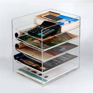 5 layer acrylic book display holder stand