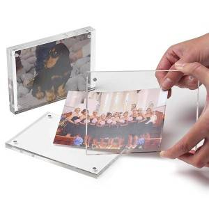 Acrylic Magnetic Photo Frame Square Plastic Magnet Photo Frame