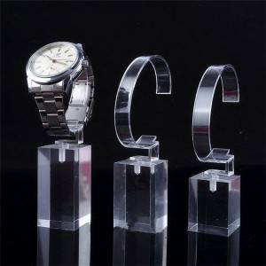 Clear Acrylic Display with C Ring Luxury watch display stand