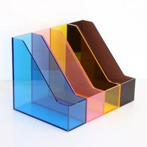 Customized Clear acrylic brochure file holder stand rack display box case