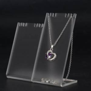 Handmade frosted acrylic jewelry necklace display holder