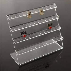 Jewelry Display Clear Acrylic 48 Holes Earring Holder Earring Acrylic Display Stand