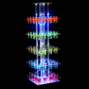 high big RGB colorful illuminated acrylic wine cup holder