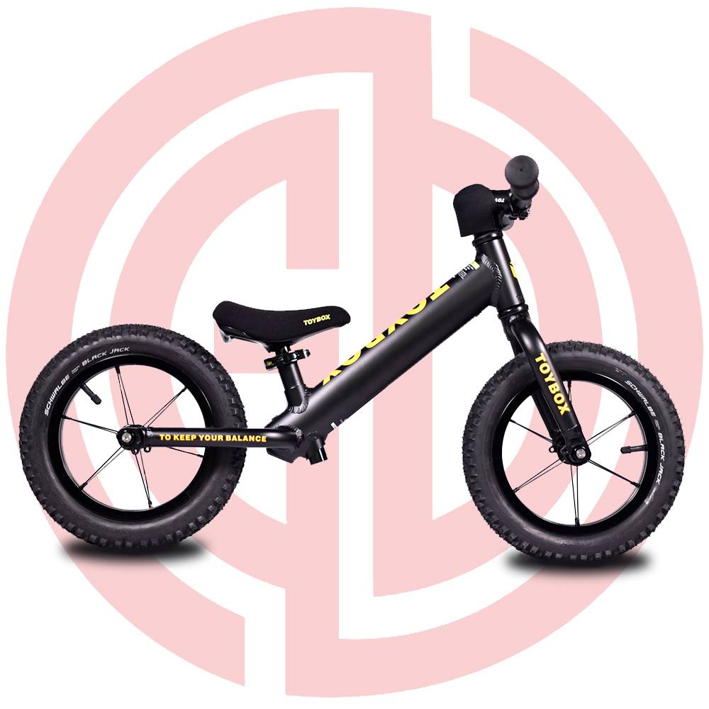 GD-KB-B003:(Black)Kids balance bike, kids bike,Toybox, cool kids' bike