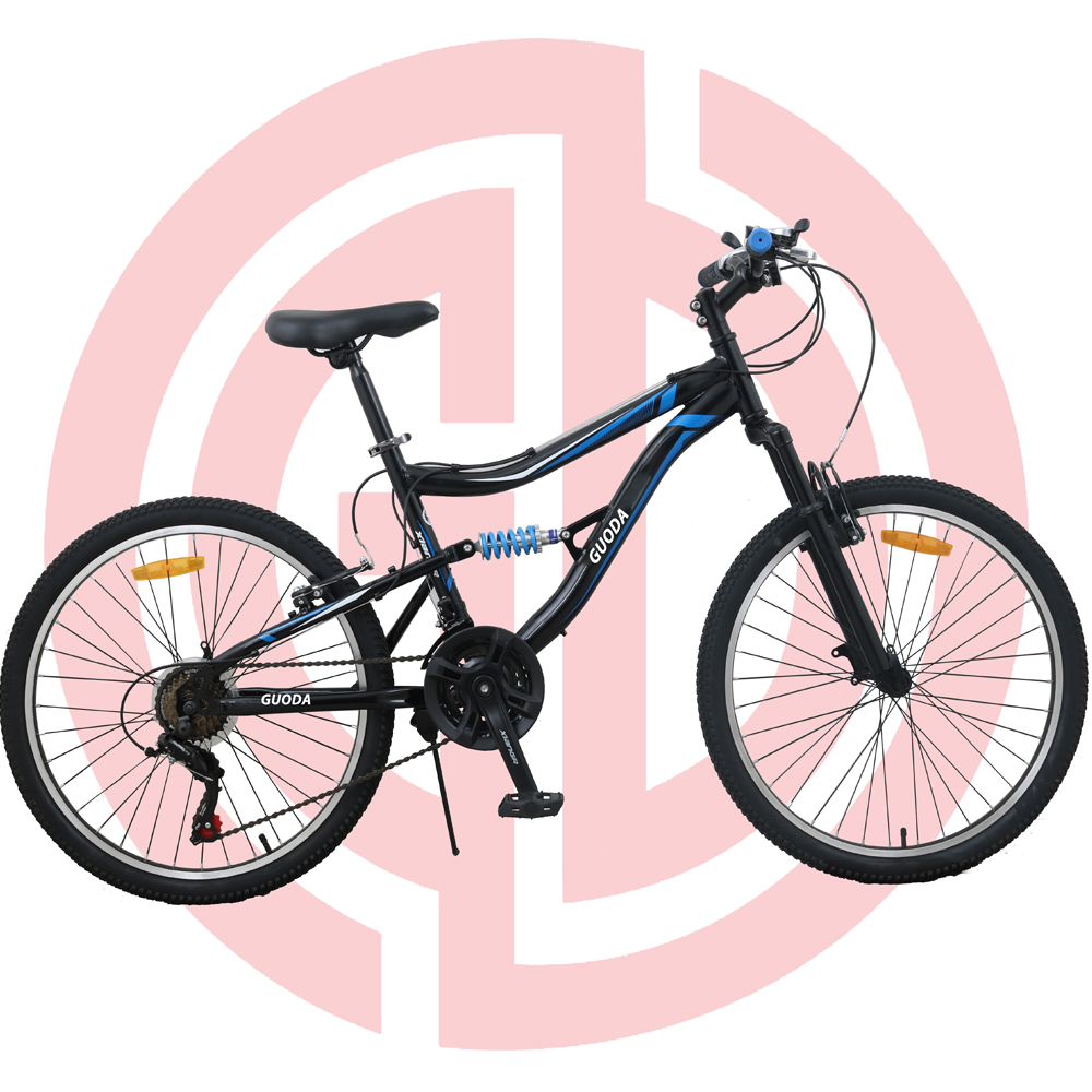 GD-MTB-003: Mountain bike, steel frame, 21 speed, 24 inches, V-brake, SHIMANO