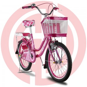Wholesale Discount One Key Foldable Baby Stroller - GD-KB-009: Girl's bright pink bike with basket, kids; bike, girls bike, princess bike, pink bike, cute bike – GUODA