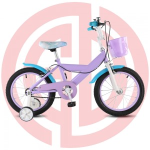 Factory wholesale Bicycle Motor Kits - GD-KB-004: Purple princess bike with basket, purple kids bike, girls' bike, pretty girls' bike – GUODA