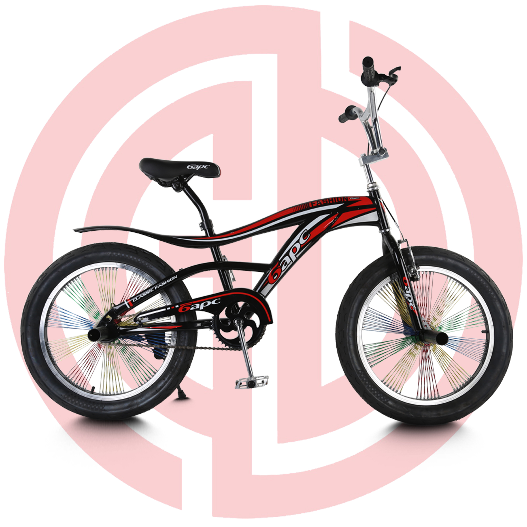 GD-KB-003: Single speed kids bicycle, boys' bike, metal frame, 20″