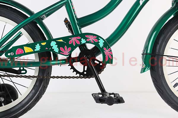 China wholesale Cheap Road Bike - GD-KB-007: Kid bike with training wheels and basket for perfect gift, green bike, kids bike – GUODA detail pictures