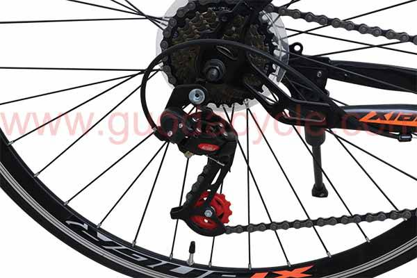 "Hot-selling Cheap Bicycle Parts - GD-RDB-002: Road bicycle, 21 speed, steel frame 700"", wheeled ,double disc brake – GUODA detail pictures"