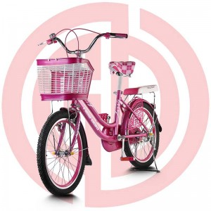 China New Product Bicycle Kickstand - Girl'S Bright Pink Bike With Basket – GUODA