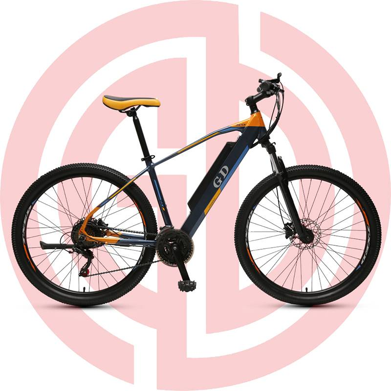 Original Factory Li-ion Battery Electric Bike - GD-EMB-007:  Electric mountain bike, 27.5 inch,  lithium battery, built-in battery, rear mounted motor – GUODA Featured Image