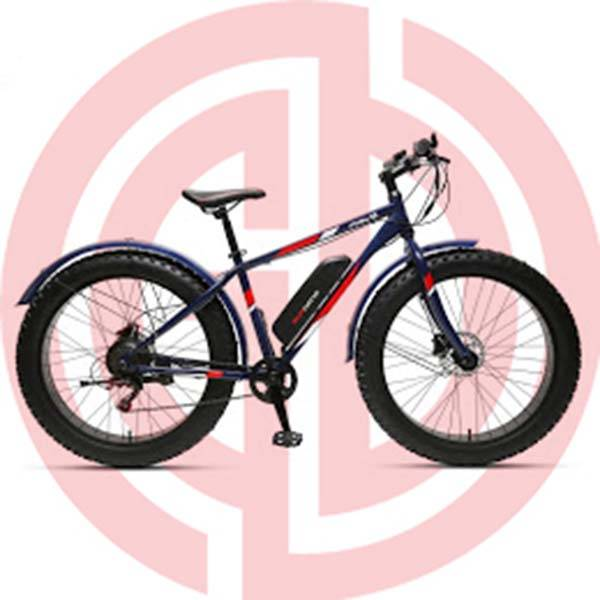 GD-EMB-008:  Electric Mountain Bicycles, 26 Inch, alloy frame, hydralic disc brakes, alloy 6061 TIG welded