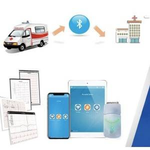 Wireless / Smart Bluetooth IPad ECG Machine New Version Colorful