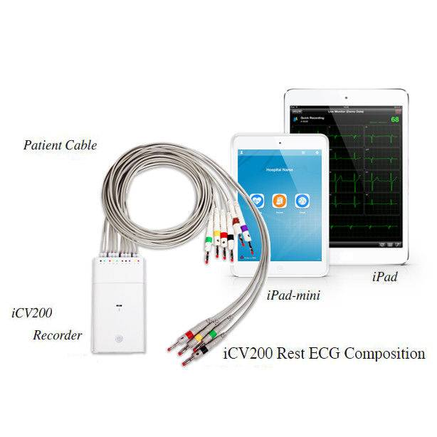 Bluetooth Transfer Ecg Ambulatory Monitoring With Smart Iphone ECG D Evice