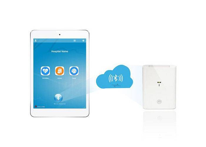 Standard 12 Lead Wireless Resting ECG Machine Portable Ecg Monitor For IPad / IPhone