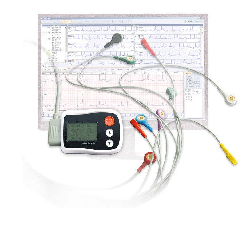 Digital 3 channel Holter ECG recorder , electrocardiogram equipment
