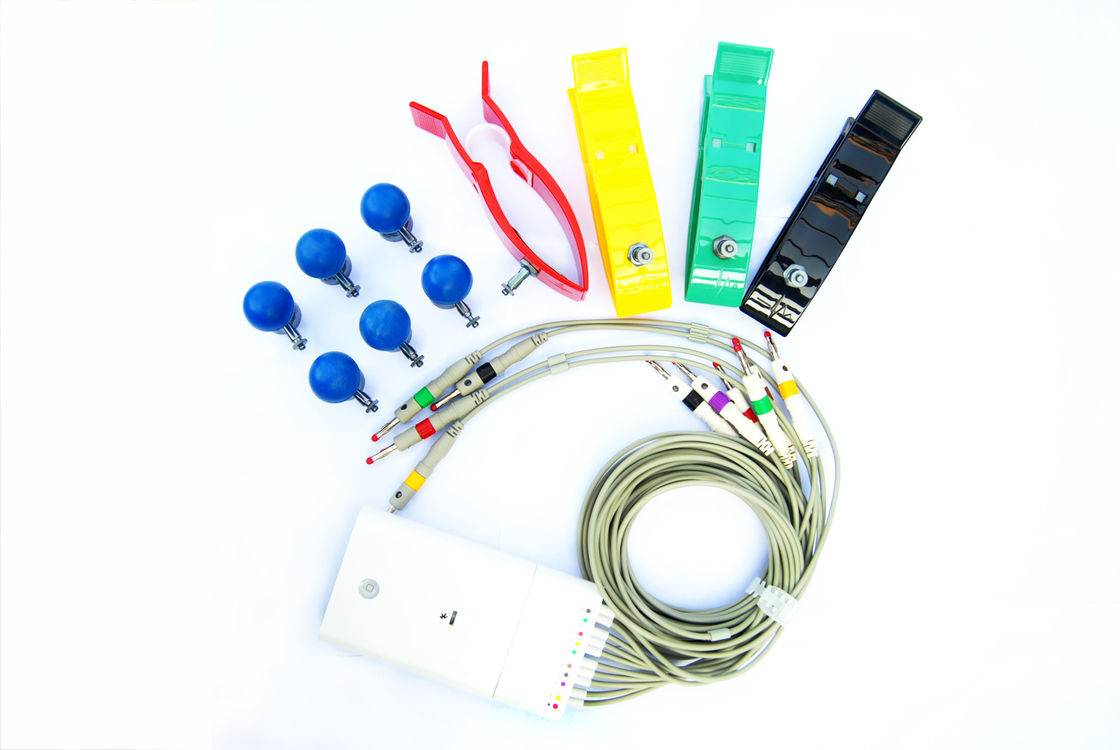 White Smart Mobile ECG Machine Connection With Bluetooth Cardiac Device