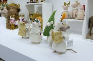 High reputation Hand Sewn Felt Animals - Wool felted the Choir mice ornament – Handiwork