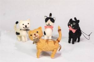 Most Popular Felt Kitten Ornament 4ASST