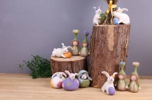 China Cheap price Handmade Christmas Crafts - Felt bunny and fairy ornament – Handiwork