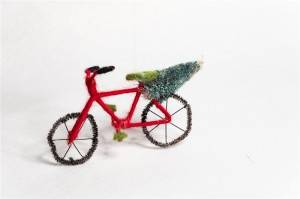 Handmade bicycle with Xmas Tree Hanging