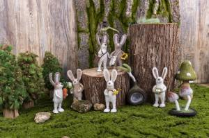 High Quality for Wet Needle Felting - Cute Easter bunny with eggs in forest – Handiwork
