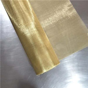 professional factory for Stainless Steel Wire Mesh Belt - Copper mesh brass woven in stock – Hanke