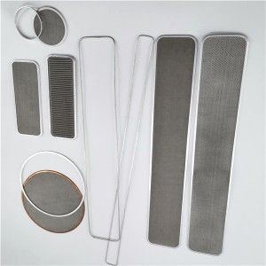 Filter mesh pack extruder mesh disc with different size and shapes