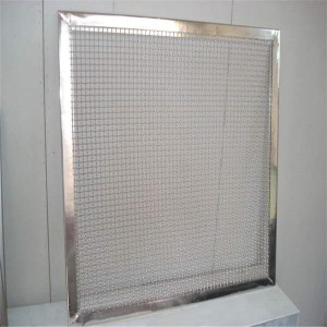 Manufactur standard Stainless Steel 304 Knitted Wire Mesh - Flame proofing wire mesh ss mesh with frame China factory – Hanke