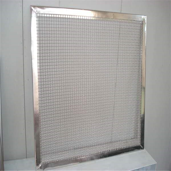 One of Hottest for Woven Mesh Fabric - Flame proofing wire mesh ss mesh with frame China factory – Hanke