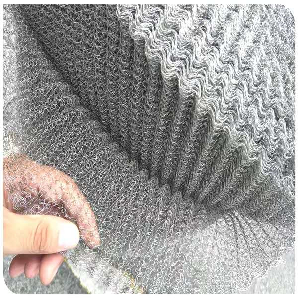 New Fashion Design for 100 Micron Inconel Wire Mesh Sieve - Knitted wire mesh gas liquid filter mesh with different material – Hanke