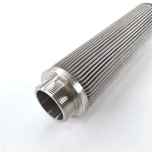Factory Free sample Perforated Stainless Steel Exhaust Tubing - Pleated filter element microporous folded filter direct factory – Hanke