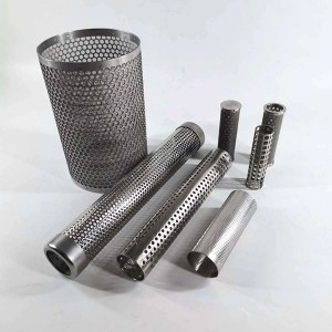 New Delivery for Medium Pleated Filter - Perforated tube punch tube filter with different shape holes – Hanke
