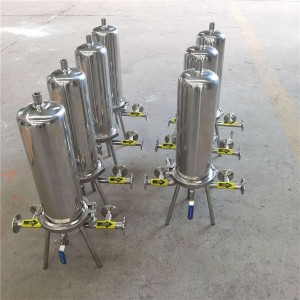 Self-cleaning filter filter housing for water with stainless steel material