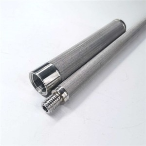 Sintered filter element candle filter high effi...