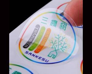 Self Adhesive Print Customized Private Logo Transparent Vinyl Sticker Clear Plastic Water Bottle Label Sticker