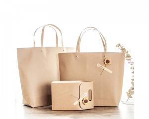 PriceList for Lipstick Box Packaging - Brown paper shopping bag recycle paper bag gift bag – Hanmo