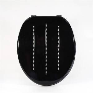 China Supplier Bathromm Toilet Lid - Molded Wood Toilet Seat – Black Diamond – Haorui