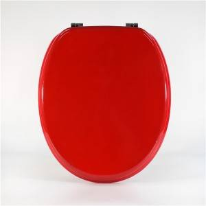 100% Original European Size Toilet Seat - Molded Wood Toilet Seat – Red Type – Haorui