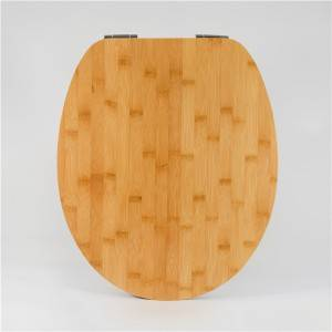 Professional Design Wooden Toilet Lid - Natural Wood Toilet Seat – Bamboo Bevel Edge – Haorui