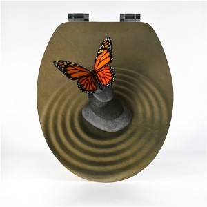 Factory Cheap Hot Pp Toilet Seat - MDF Toilet Seat – Butterfly Type – Haorui