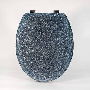 Good Quality U Shape Toilet Lid - Polyresin Toilet Seat – Glitter Blue – Haorui