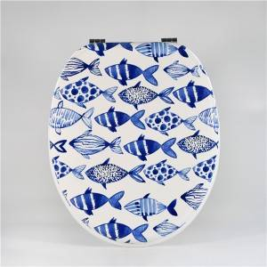 Factory Outlets Promotion Toilet Seat - MDF Toilet Seat – Blue Fish – Haorui