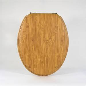 Factory supplied Painted Toilet Lid - Molded Wood Toilet Seat – Bamboo Type – Haorui