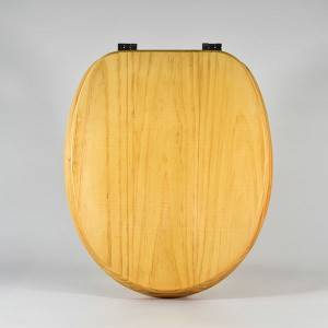 Manufacturer of Kids Toilet Seat - Natural Wood Toilet Seat – Pine Wood – Haorui