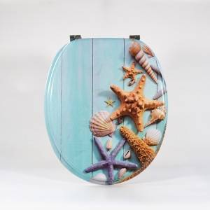 Good quality Pattern Toilet Seat - Molded Wood Toilet Seat – Starfish Type – Haorui